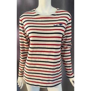 Madewell Black Red Stripe Cream sweatshirt